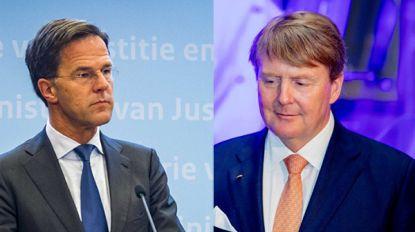"""Nederlandse krant NRC kritisch voor premier Rutte en koning Willem-Alexander: """"Hij escaleerde de boel"""""""