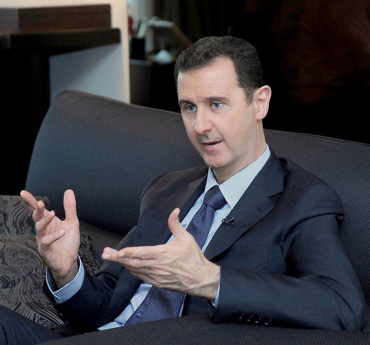 De Syrische president Bashar al-Assad tijdens een interview vorige maand. Beeld epa