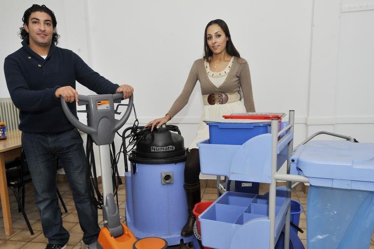 Hanane Abdellaoui en Hassan Boutiba wonnen met hun bedrijf Just Clean