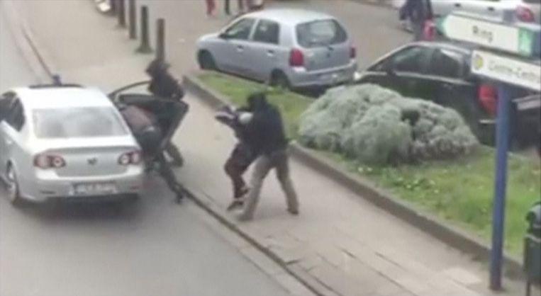 De arrestatie van Abrini in Anderlecht.