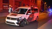 Gewonde bij frontale botsing met auto van bewakingsfirma