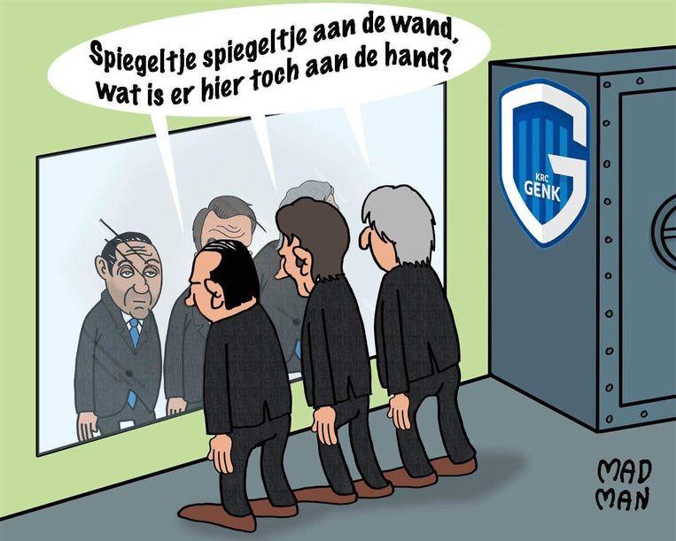 De cartoon met de Condé, Stuivenberg en Janssens.