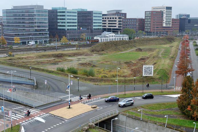 Het 55.000 vierkante meter grote braakliggende terrein aan de rotonde bij het Eemplein:het Trapezium.