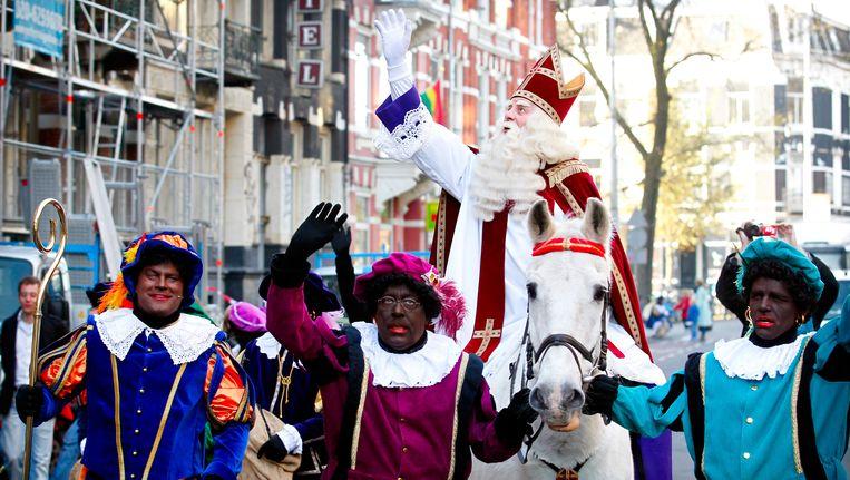 Sinterklaas bij de première van Bennie Stout. Beeld ANP Kippa