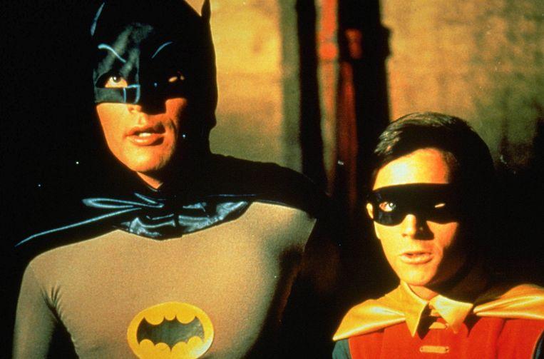 Adam West als Batman en Burt Ward, die Robin speelde. Beeld anp