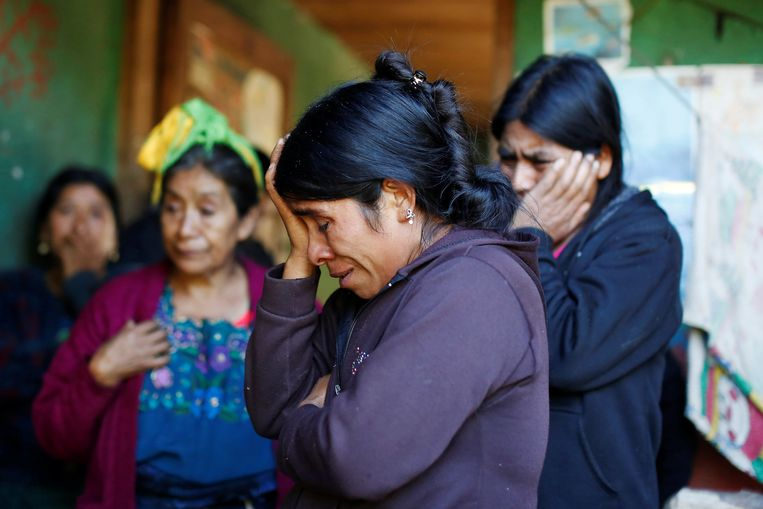 De moeder van de 8-jarige Felipe in Guatemala.