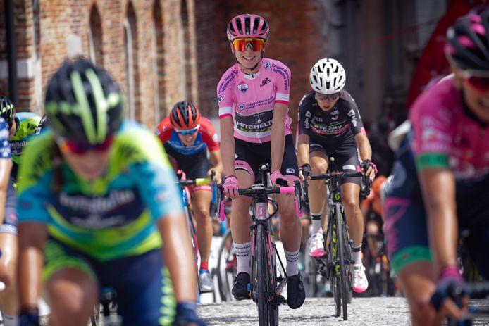 Annemiek van Vleuten in de laatste etappe.