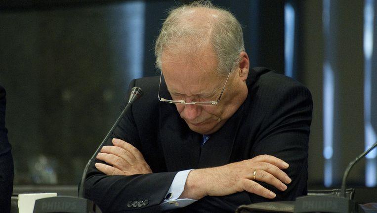 Een geëmotioneerde Wim Deetman eerder deze maand tijdens een rondetafelgesprek in de Tweede Kamer. Beeld ANP