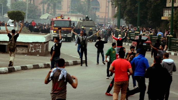 Demonstranten op het Tahirplein.
