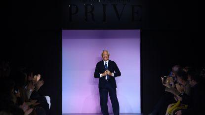 Giorgio Armani ligt onder vuur omdat hij modetrends vergelijkt met verkrachting