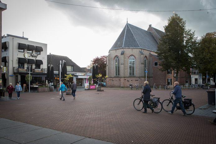 Het centrum van Raalte waar de markt na vele jaren moet terugkeren als het aan GemeenteBelangen Raalte ligt.