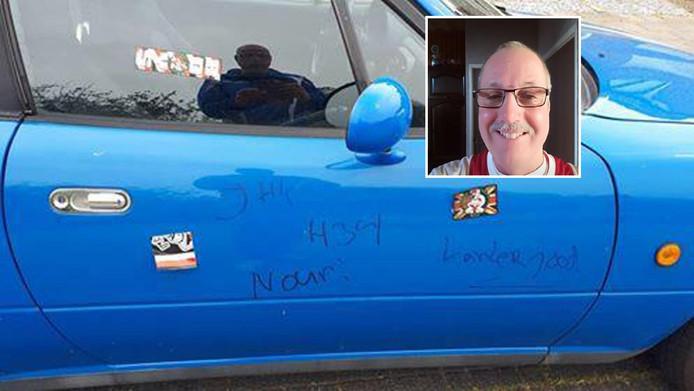 De bekladde auto van Stef Driesse