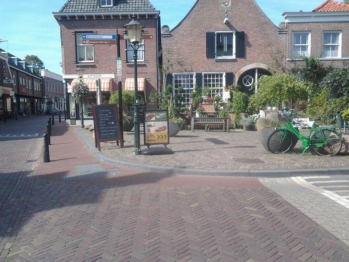 Het centrum van Delden ligt er spic en span bij.