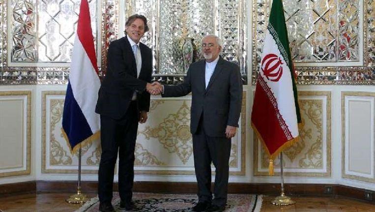 Minister Koenders van Buitenlandse Zaken met zijn Iraanse ambtgenoot Zarif, 2015. Beeld IRNA