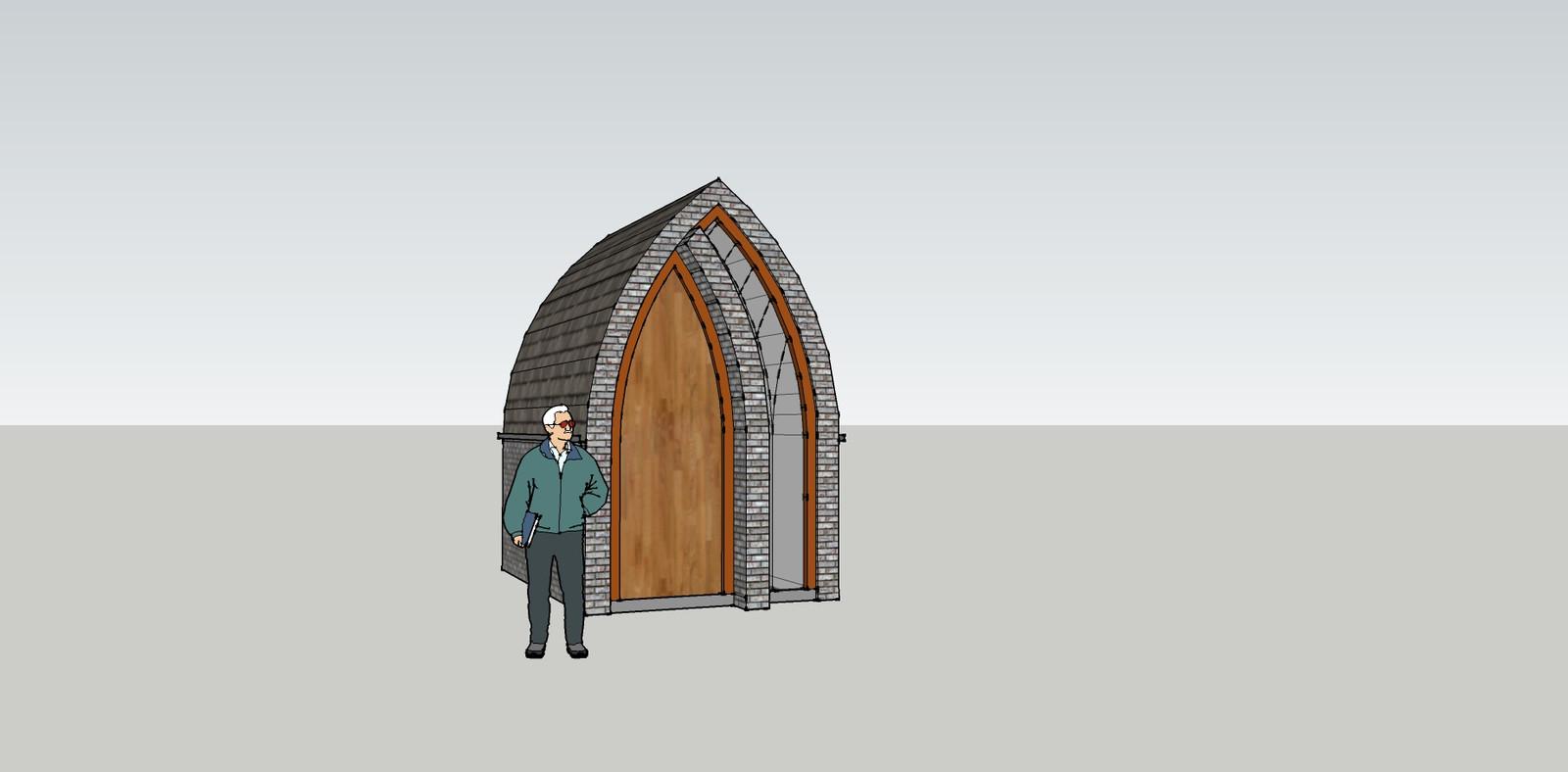 Een artist's impression van hoe de nieuwe kapel in Moerstraten er uit moest gaan zien.