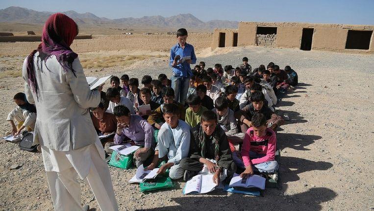 Afghaanse schoolkinderen in Ghazni. Beeld afp