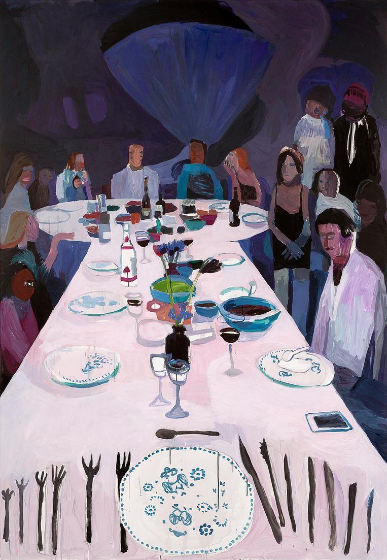 Devil's Dinner (2019). `De tafel van mijn schoonouders stond model. De titel heeft niks met hen te maken.` Beeld Helen Verhoeven