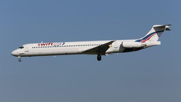 Air Algérie charterde het vliegtuig bij het Spaanse Swiftair.