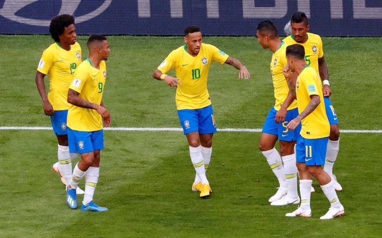 Willian, Jesus, Neymar, Casemiro (die niet zal spelen), Paulinho en Coutinho.