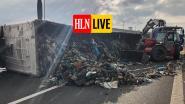 E40 in Nevele versperd na ongeval met gekantelde vrachtwagen, file groeit snel aan