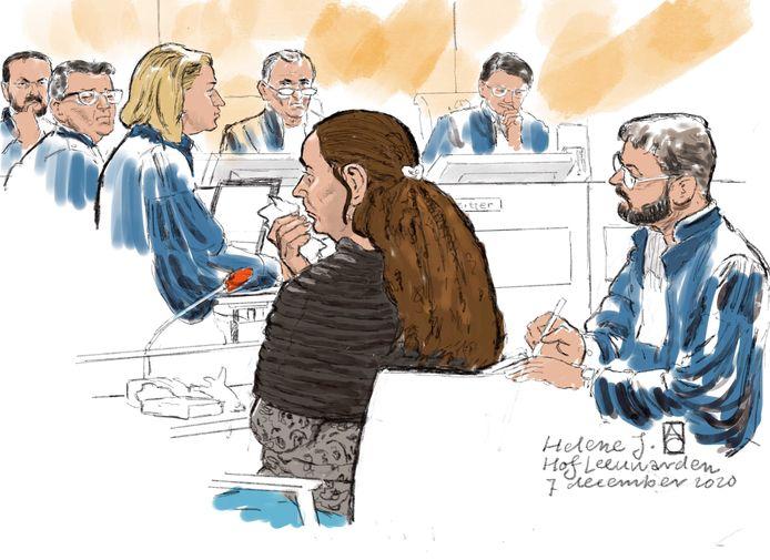 Rechtbanktekening van Hélène J. (41).