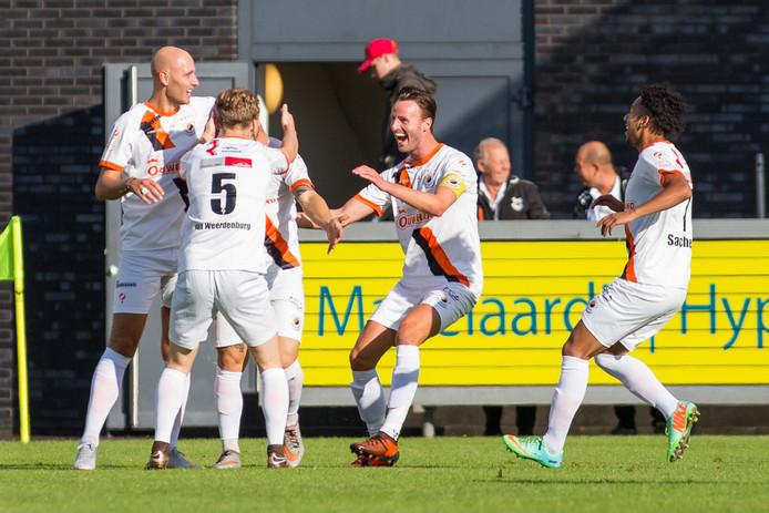 Vreugde bij Katwijk na de 0-2.