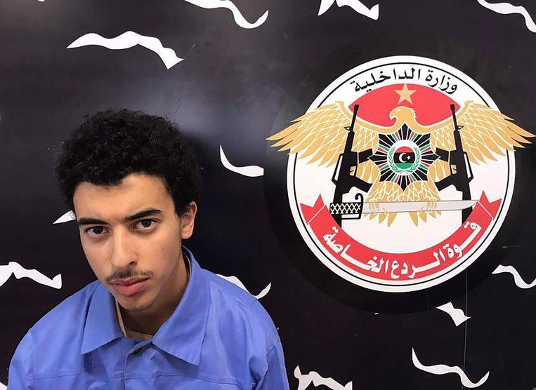 Hashem Abedi, hier op een foto van de Libische autoriteiten, werd kort na de aanslag in 2017 in Libië aangehouden. Woensdag werd hij uitgeleverd aan Groot-Brittannië. Beeld AFP