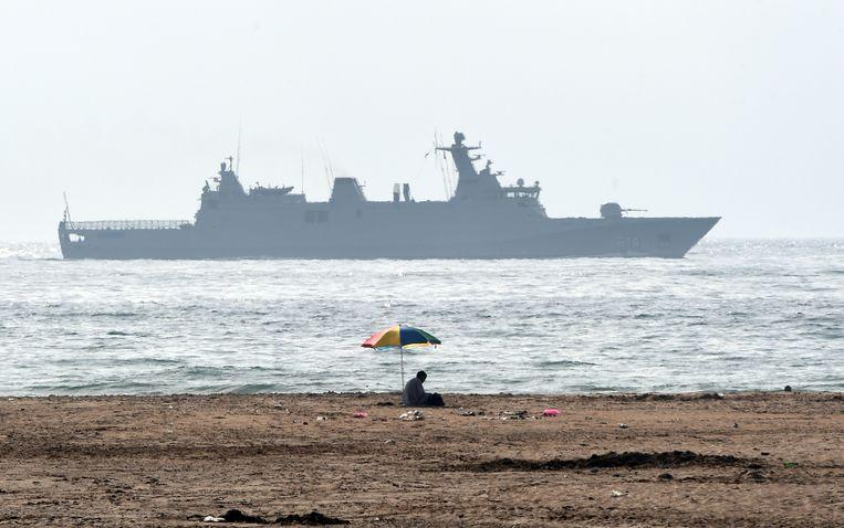 Een schip van de Marokkaanse marine.  (archieffoto)