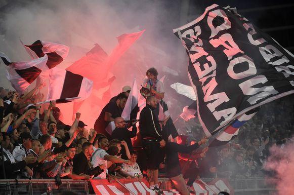Supporters van Amiens SC.