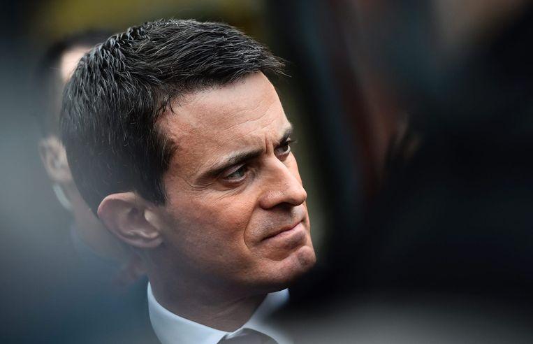 De Franse premier Manuel Valls Beeld afp