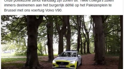 Politie met Volvo V90 in nationaal defilé