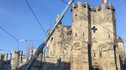 Loos alarm: steen voor inkom Gravensteen kwam niet van de toren