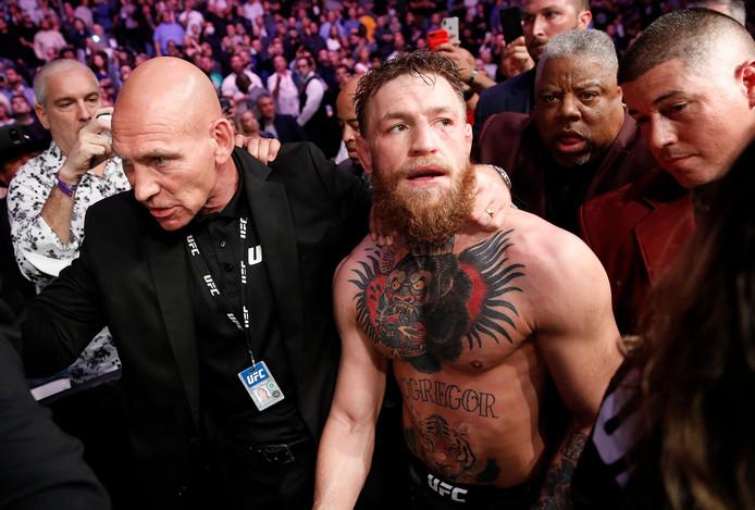 Conor McGregor na zijn uit de hand gelopen partij tegen Chabib Noermagomedov.