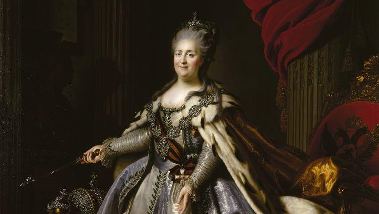 Portret van Catharina de Grote Beeld State Hermitage Museum, St Petersburg