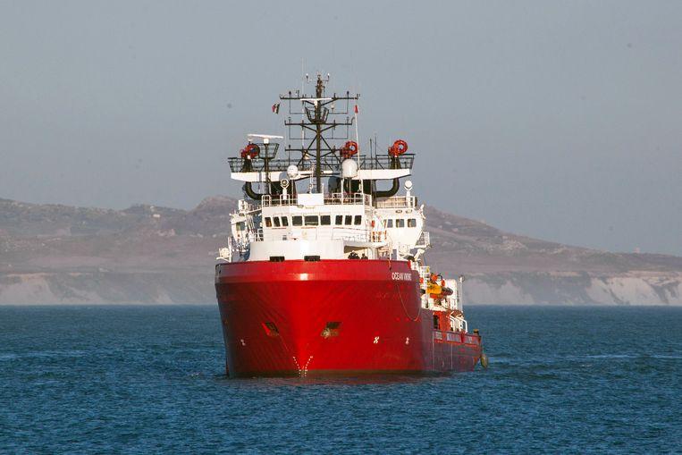 De Ocean Viking van NGO SOS Mediterranee. Beeld AP