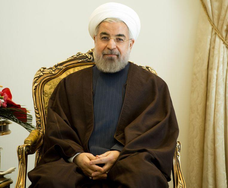 De Iraanse president Hassan Rohani. Beeld belga