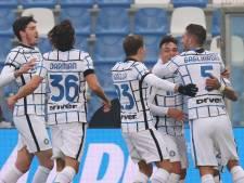 Inter wint strijd om tweede plaats na eenvoudige zege op Sassuolo