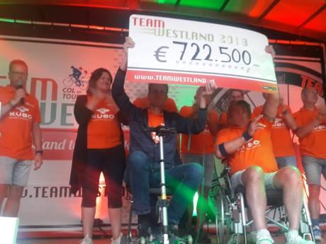 Team Westland fietst recordbedrag bij elkaar: 722.500 euro