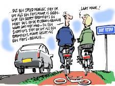 'Voor trappers is het  fietspad bedacht'