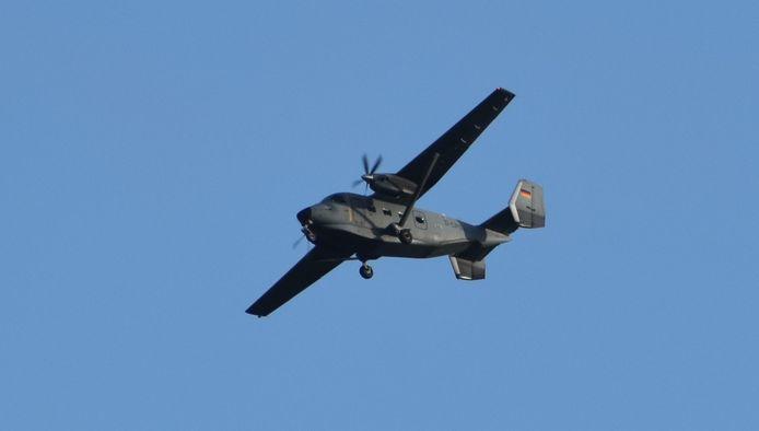 De Antonov die boven Twente vloog.