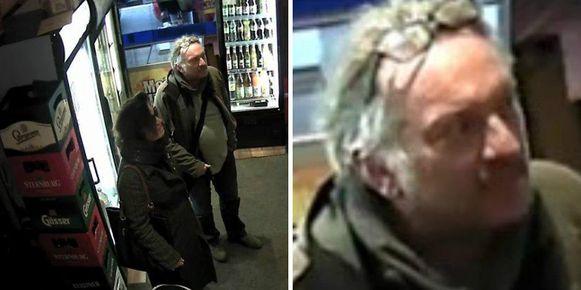 Op bewakingsbeelden is te zien hoe het slachtoffer en de vermoedelijke moordverdachte drank kochten in een supermarkt.