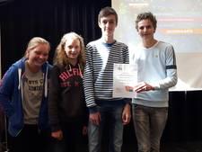 Kwartet vijftienjarigen wint actiedag van Oisterwijkse havo-4 Durendael