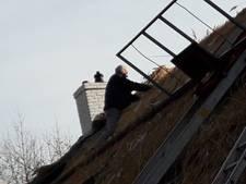 Paar duizend bossen riet voor nieuw dak aan pand Achter de Molen