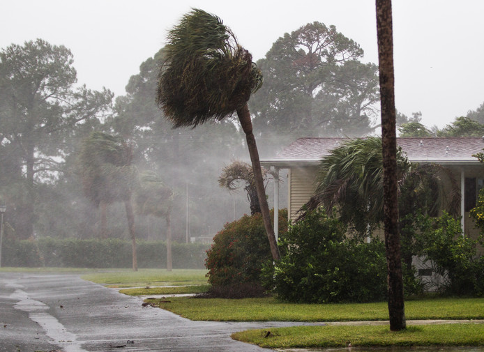 Orkaan Irma houdt huis in Florida.