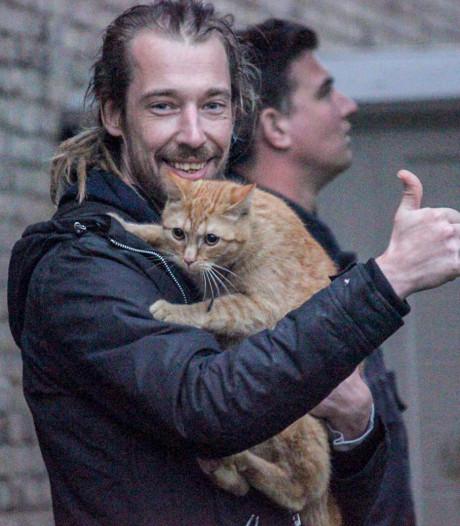 Eerbeekse kat Ollie na twee dagen bevrijd uit boom