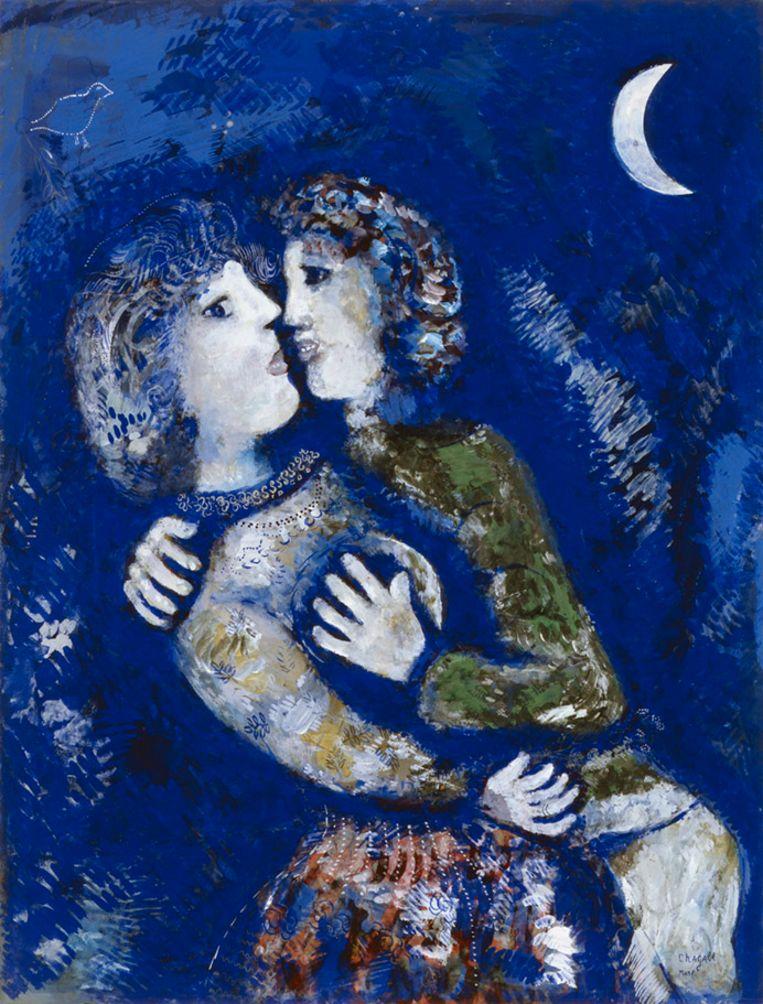Marc Chagall, Verliefd paar, 1925. Beeld Collectie Stedelijk Museum Amsterdam.