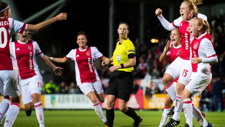 4 oktober 2017: Linda Bakker zet Ajax op 1-0 tegen Brescia in de Champions League Beeld ANP