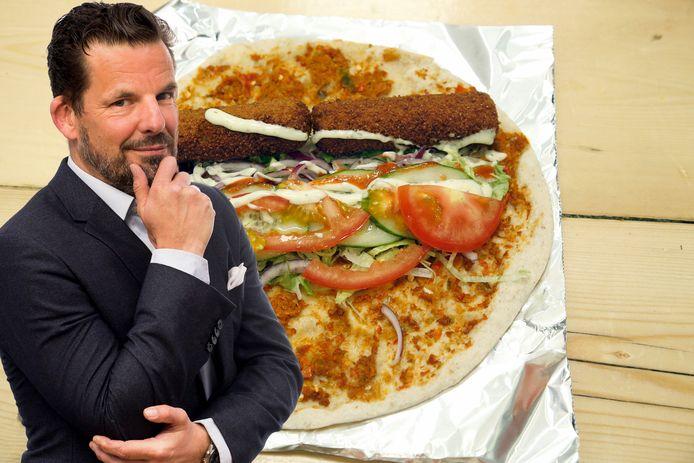 Jerry Goossens pizza met kroket