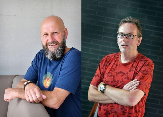 Ralph Blijlevens (l) en Dick Janssen gaan in debat over de gevaren van de Dakar Rally
