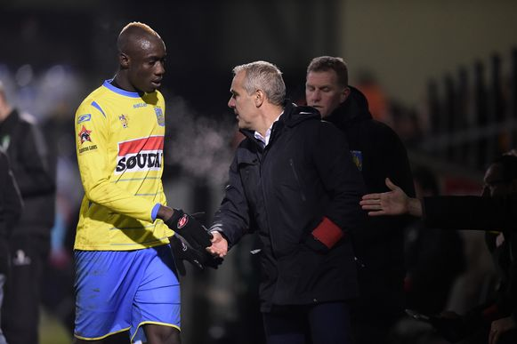 Mbaye Diagne in het shirt van Westerlo.